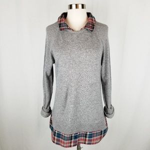 100% cashmere Joie faux layered sweater size small